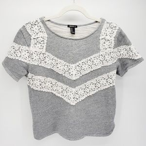 Forever 21 | Short-Sleeve Sweater | Gray